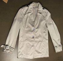Comptoir des Cotonniers Veste longue blanc cassé-gris clair coton