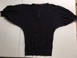 Comptoir des Cotonniers Short Sleeve Sweater dark blue cotton