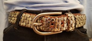 Conleys Studded Belt cognac-coloured leather