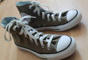 Converse Basket montante gris vert