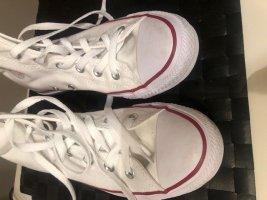 Converse Zapatos de marinero blanco Algodón