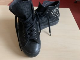 Converse High Top Sneaker black-silver-colored