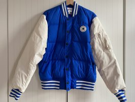 Converse College Jacket natural white-blue imitation leather
