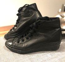 Converse Heel Sneakers black leather