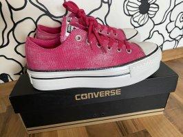 Converse Sneaker Plateau, Pink/Silber, Gr. 38. Neuwertig!
