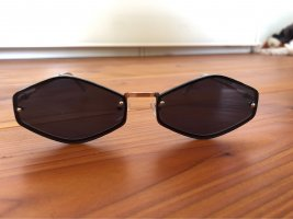 Coole 6 kantige schmale Sonnenbrille