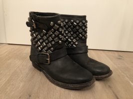 ASH Booties black-silver-colored