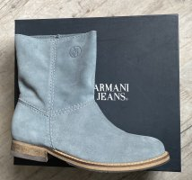 Armani Jeans Booties silver-colored suede