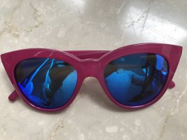 Le Specs Butterfly Glasses magenta-blue