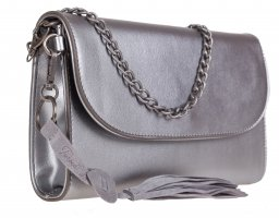 Clutch silver-colored-light grey imitation leather