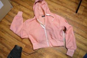 Giacca con cappuccio rosa