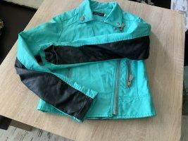 Papillonne Biker Jacket turquoise-black
