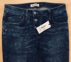 PLEASE Denim Jeans boyfriend bleu acier coton