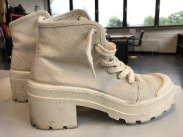 Pull & Bear Heel Sneakers oatmeal-cream