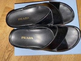 Prada Sandalias con plataforma negro Cuero