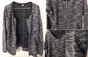 Coole schwarz-weiß Strickjacke von H&M