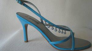 Coole Sexy Fuß Dessous Hell Pastell Türkis mit Perlen Absätze 10,3 cm Top
