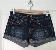 Rue21 Pantaloncino di jeans blu scuro Cotone