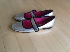 Mary Jane Ballerinas silver-colored
