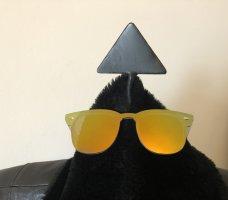 Okulary w stylu panto Wielokolorowy Tkanina z mieszanych włókien