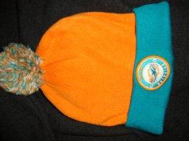 Pointed Hat neon orange-neon blue polyacrylic