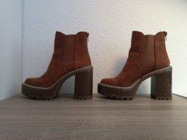 Madden Girl Platform Boots cognac-coloured
