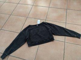 Cooler Crop-Sweatshirt von Guess, Neu mit Etikett, Gr. XS schwarz-batik