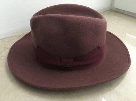 Wollen hoed bordeaux Wol
