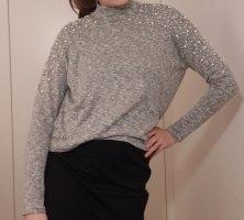 H&M Sweter z golfem jasnoszary-szary