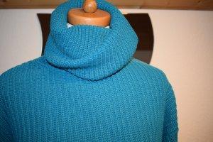 cooler Pullover mit Rollkragen / Rolli von H&M in petrol Größe 36