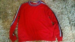 Cooler Pullover von Only in Rot mit Streifen Gr.S