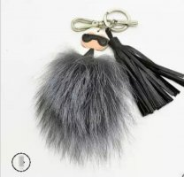 cooler Schlüssel - Taschenanhänger Lagerfeld Stil, Quaste, 3 Modelle NEU