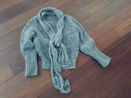 Alexander McQueen Coarse Knitted Sweater silver-colored-grey mohair