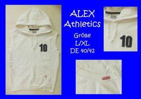 Alex Athletics Sweatshirt met capuchon wit Gemengd weefsel