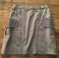 Adolfo Dominguez Skirt grey brown-green grey cotton