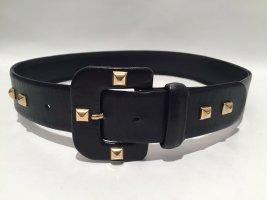 Cooler Vintage Gürtel aus schwarzem Leder mit Stud-Nieten