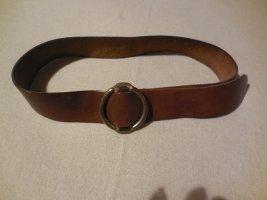 Cintura di pelle marrone Pelle