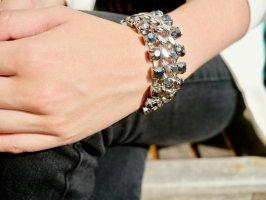 Cooles Glam-Armband in 2 Silbertönen dark/light, Top-Zustand NP 12€