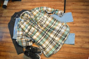 Missguided Camicia da boscaiolo multicolore