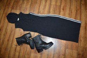 Sukienka z kapturem czarny-biały