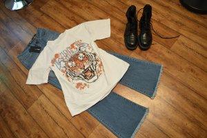 Cooles T-Shirt mit großem Print Gr. 40