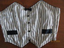 Corsage white-black silk