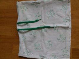 Only Top z dekoltem typu bandeau w kolorze białej wełny-leśna zieleń