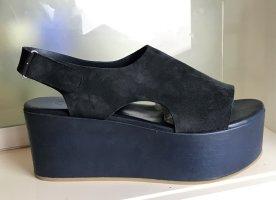 COS Sandales à plateforme bleu foncé-bleu cuir