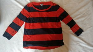 COS Longsleeve black-red cotton