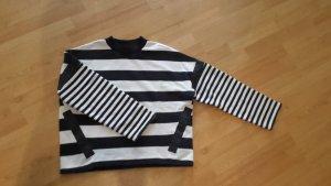 COS Sweatshirt dunkelblau/weiß  Gr. M