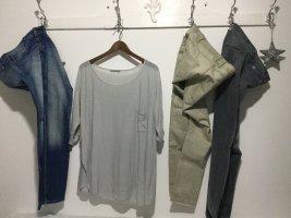 COS Long Shirt light grey-silver-colored
