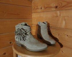 Cowboy Boots mit Fransen Wildleder