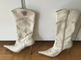 Botas estilo vaquero blanco puro