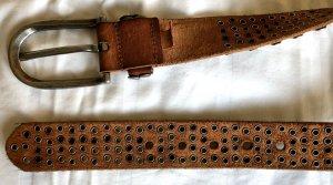 Cowboysbelt Studded Belt multicolored leather